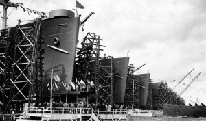 Kaiser Shipyards in Portland, Oregon at the height of WWII.