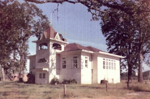the original Ewing Young School (West Chehalem School)