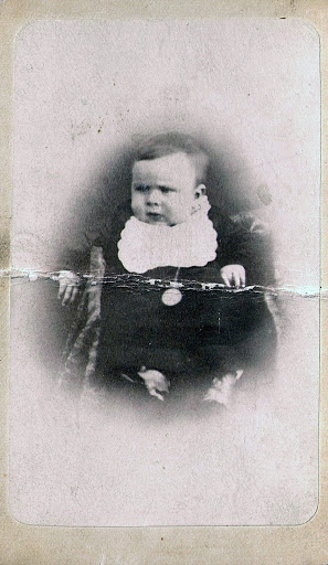 Willie - William Maughan Fergus Davidson - as an infant.