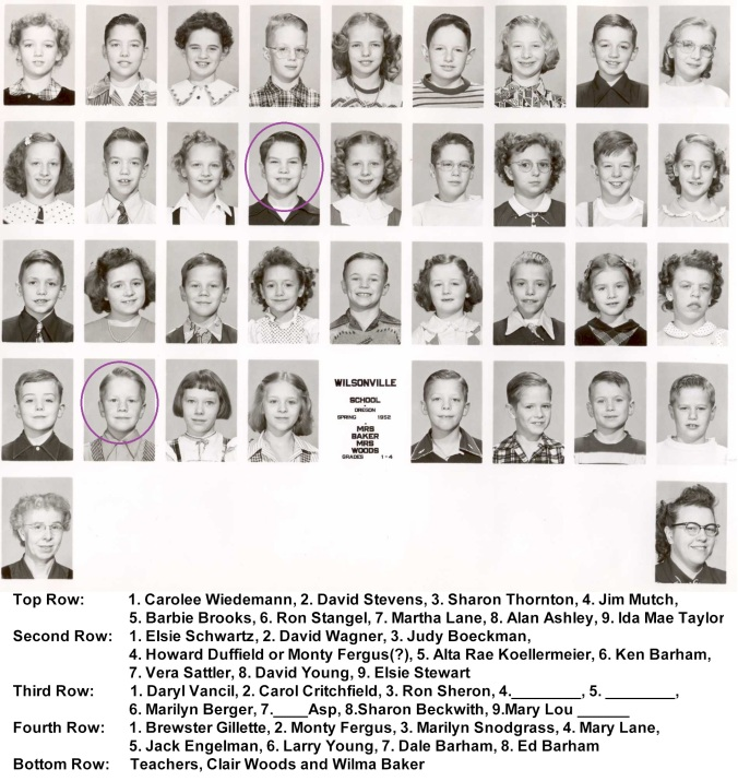 1952 Grades 1 to 4a - circled