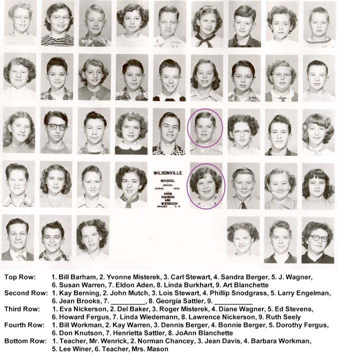 1952 Grades 5 to 8a - circled